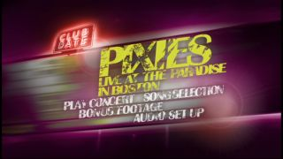 Pixies Club Date - live at the Paradise in Boston: DVD menu