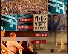 Pixies Acoustic - Live in Newport: DVD menu